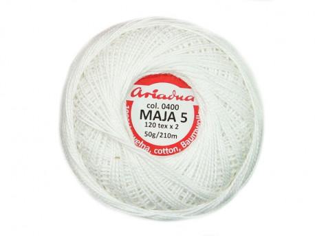 MAJA 5 120x2 kolor 0400 biały 50g 210m