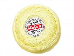 MAJA 5 120x2 kolor 0331 żółty jasny 50g 210m