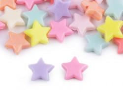 koraliki gwiazdki mix pastelowe 45 sztuk
