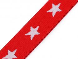 guma ozdobna gwiazdki czerwona