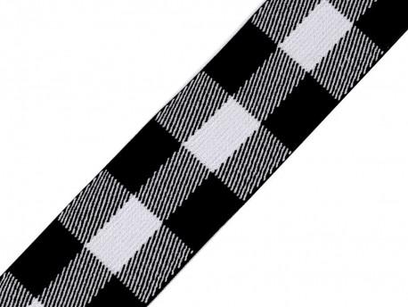 guma tkana kratka czarna 40 mm