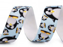 guma ozdobna z nadrukiem pingwiny