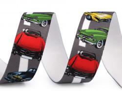 guma ozdobna z nadrukiem autka