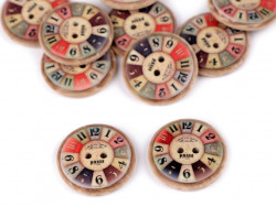 guzik imitacja drewna - zegar