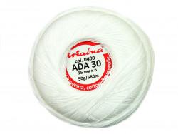 Kordonek ADA 30 15x6 kol. 0400 biały 50g 580m