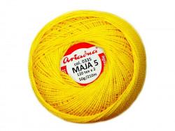 MAJA 5 120x2 kolor 0335 żółty 50g 210m