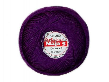 MAJA 5 120x2 kolor 0350 fioletowy 50g 210m