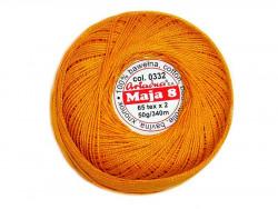 MAJA 8 65x2 kolor 0332 pomarańczowy 50g 340m