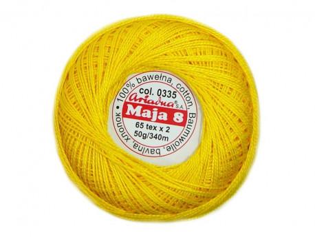 MAJA 8 65x2 kolor 0335 żółty 50g 340m