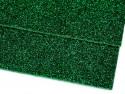 pianka gumowa z brokatem zielona -2 sztuki