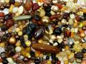 koraliki szklane 150 gram - mix brązowy