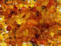 koraliki szklane 150 gram - mix bursztynowy