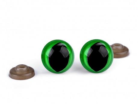 oczy kocie do zabawek zielone - para