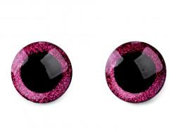 oczy do zabawek brokatowe z zatyczką 25mm -para