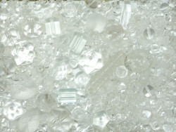 koraliki szklane 150 gram - mix przezroczysty