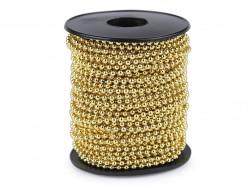 koraliki na sznurku 3mm złote