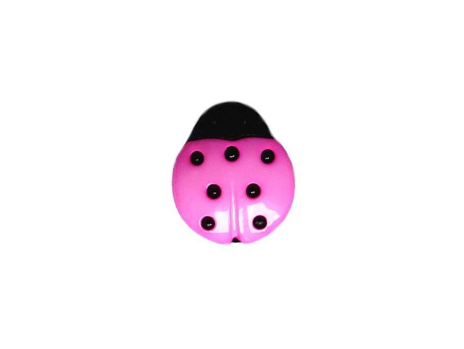 Guziczek dziecięcy biedronka różowa