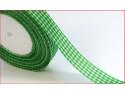 wstążka ozdobna kratka zielona