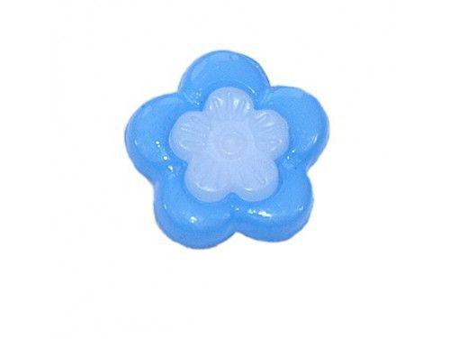 Guziczek dziecięcy kwiatek niebieski