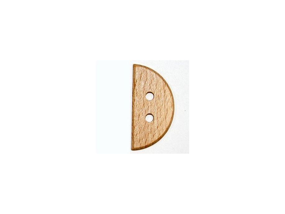 Guzik drewniany połówka duża