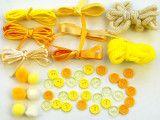 Zestaw kreatywny 44 elementy Cytrynowe Babeczki