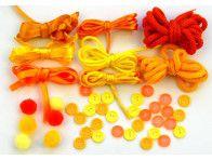 Zestaw kreatywny 44 elementy Soczyste Pomarańcze