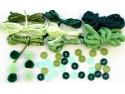 Zestaw kreatywny 44 elementy Zielony Fart