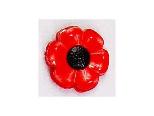Guziczek dziecięcy kwiat czerwony