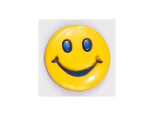 Guziczek dziecięcy uśmiech żółty