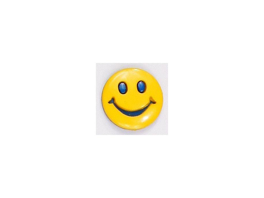 Guziczek dziecięcy uśmiech niebieski