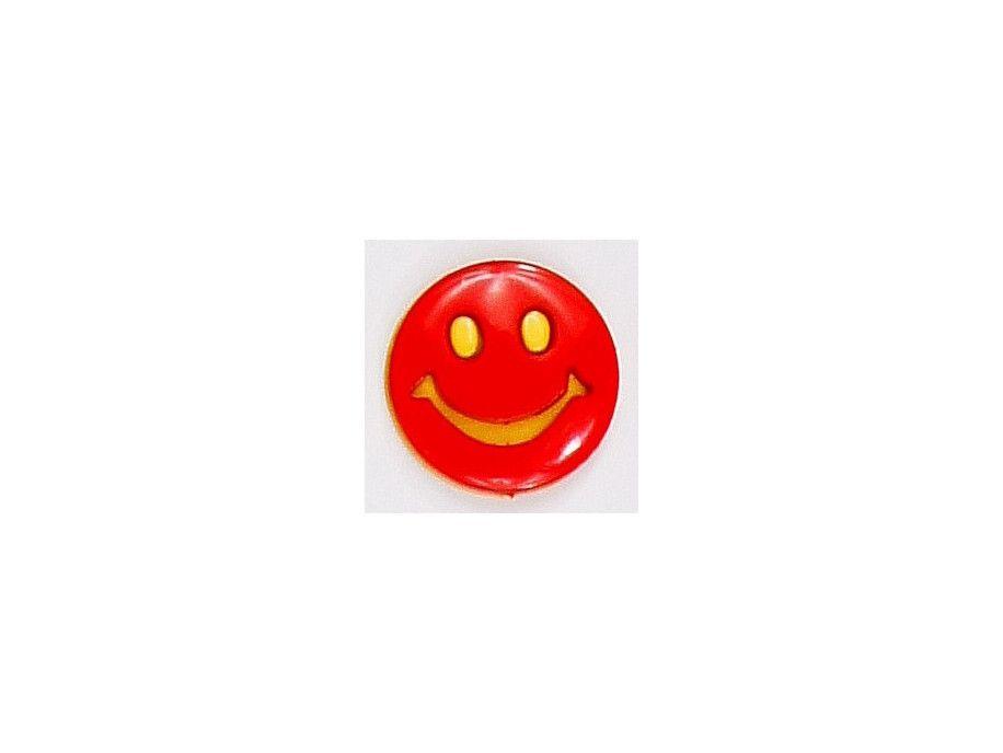 Guziczek dziecięcy uśmiech czerwony