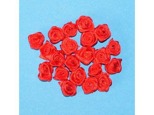 Różyczki satynowe czerwone
