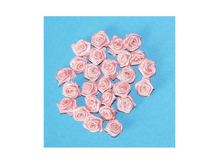 """Różyczki satynowe """"brudny"""" róż"""