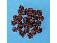 Różyczki satynowe brązowe