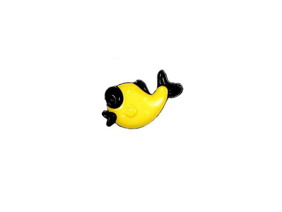 Guziczek dziecięcy żółta rybka