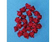 Różyczki satynowe bordowe