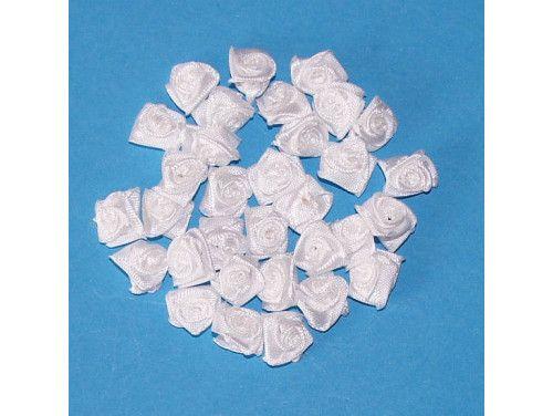 Różyczki satynowe białe