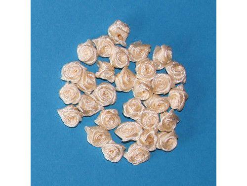 Różyczki satynowe kremowe