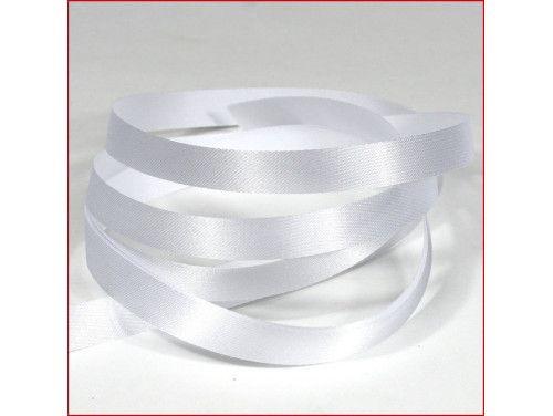 wstążka atłasowa szer.10mm biała