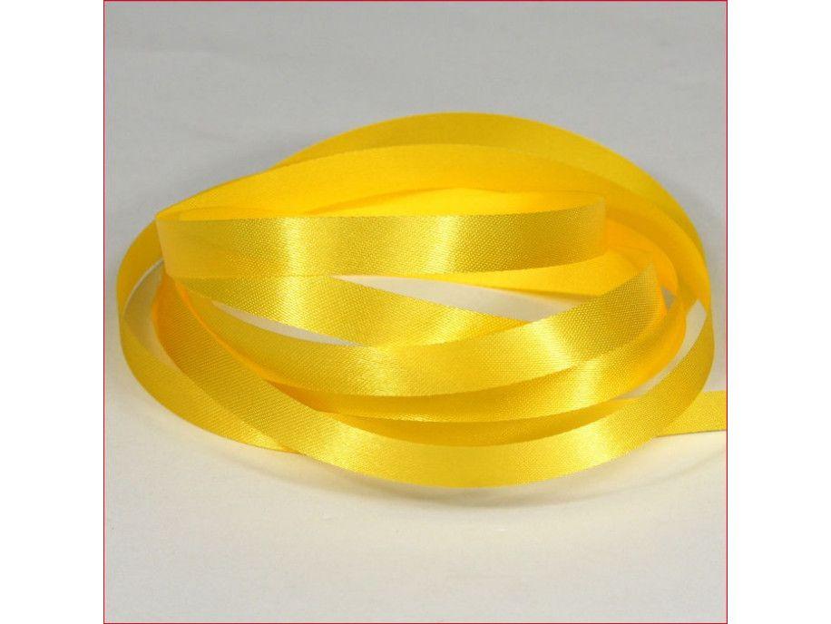 wstążka atłasowa szer.10mm żółta