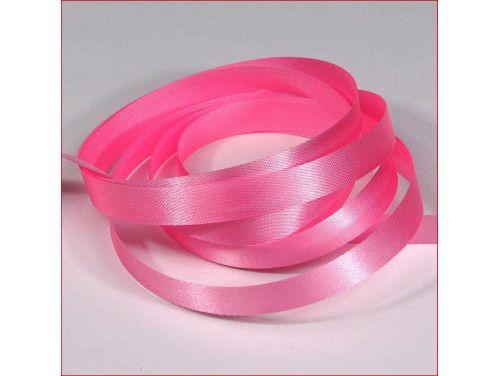 wstążka atłas. szer.10mm różowa