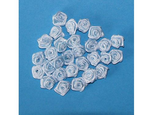 Różyczki satynowe niebieskie