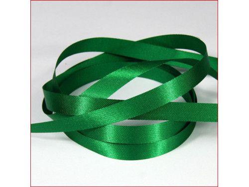 wstążka atłas. szer.10mm zielona