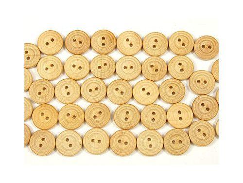 Guzik drewniany 15mm żłobkowany