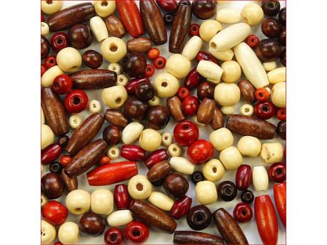 koraliki drewniane mix