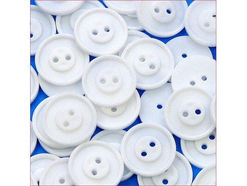 guziki pościelowe duże białe