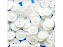 guziki pościelowe małe białe