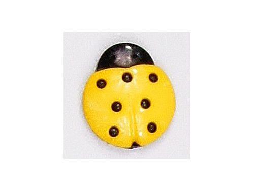Guziczek dziecięcy biedronka żółta