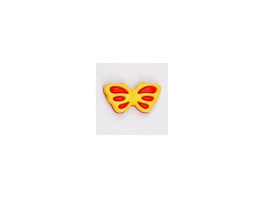 Guziczek dziecięcy motylek żółty