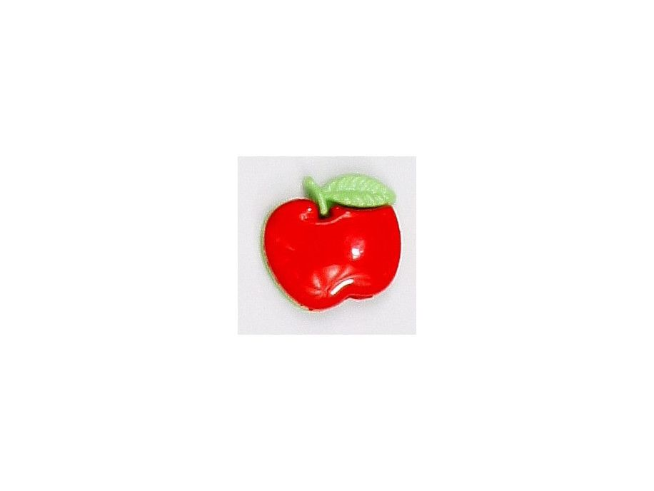 Guziczek dziecięcy czerwone jabłuszko